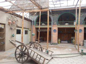 Werkplaats in Margilan, Fergana vallei