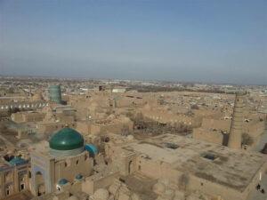 Blik op Khiva, Oezbekistan