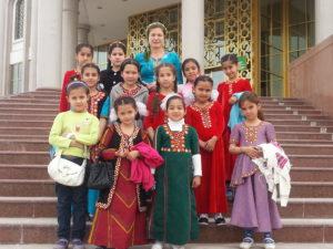 Schoolklas in Mary, Turkmenistan