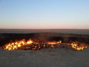 Darwaza gaskrater, Turkmenistan