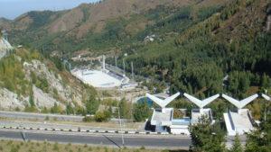Medeo schaatscomplex in Almaty, Kazachstan