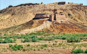 Ayaz Qala tussen Nukus en Khiva, Oezbekistan