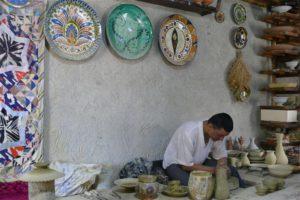 Keramiek fabriekje nabij Boechara, Oezbekistan