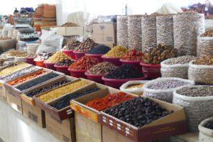 Typische markt in Oezbekistan